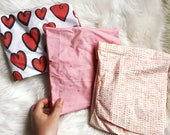 Pink changing pad cover, girl changing cover, baby nursery, baby girl changing cover, pink baby nursery, hearts, changing mat cover, coral