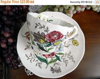 ON SALE Copeland Spode, Tea Cup and Saucer, Great Britain Gainsborough, Vintage Teacups, Antique Cups 11049