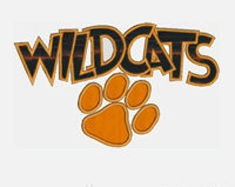 Wildcats...Embroidery Applique Design...Two sizes for multiple hoops...Item1510...INSTANT DOWNLOAD