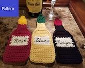 Wine Bottle Potholder Crochet Pattern - Wine Bottle Hot Pad Crochet Pattern - Wine Lover's Crochet Pattern