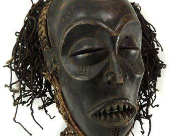 Chockwe Mask Mwana Pwo with Headdress Congo African Art  117880