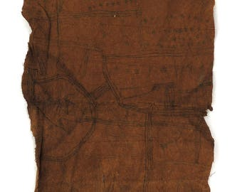 Pygmy Mbuti Barkcloth Ituri Rainforest Congo African Art 119022