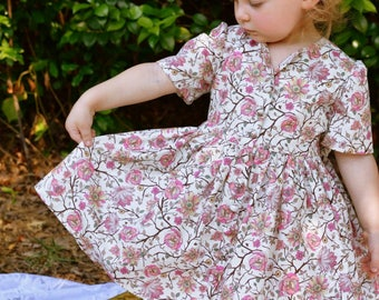 Wild Flowers Shirt Dress by Papoose Clothing