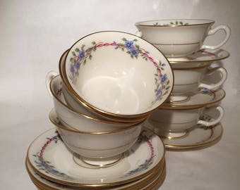 Lenox Belvidere Cups and Saucers