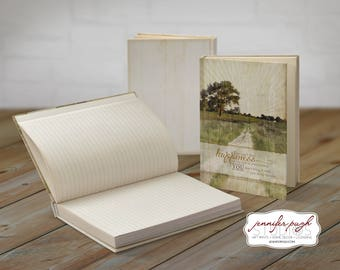 Bring Happiness 5x7 Hardback Bound Journal -Inspirational, Word Art