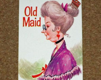 Vintage Old Maid Game Replacement Card - Whitman - Old Maid