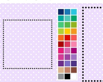 40% OFF SALE Dotty Square Digital Borders - Clip Art Frames - Instant Download - Commercial Use