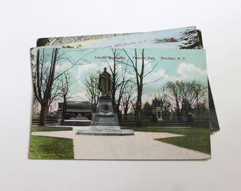 3 Vintage Brooklyn New York Postcards Used