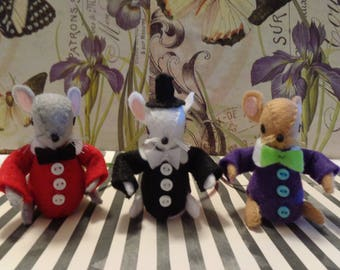 Tuxedo Mice Ornaments by Pepperland