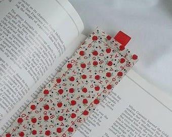 ABC Bookmark / Fabric Bookmark / Apples Bookmark / Bookmark / Teacher / Student