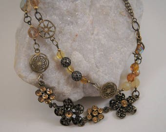 GOLDEN GARDEN Double Strand Necklace