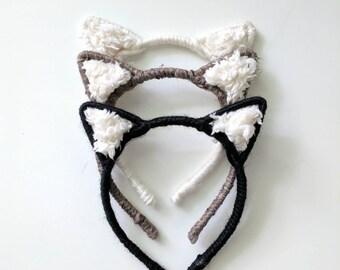Woodland Kitty Fuzzy // Brown, Black, or White // Tukka Tot Essentials