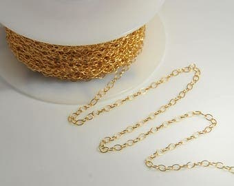 5 Feet: 14K gold filled cable chain 2X3mm link for jewelry making