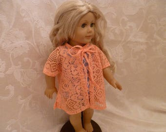 18 Inch Doll Pretty Orange Soft Knit Swimsuit Cover Up for American Girl Dolls