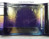 Soap Dish of Fused Iridescent Glass