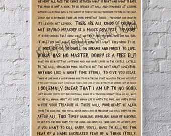 11X17 HARRY POTTER Quotes Poster - Lessons from Hogwarts