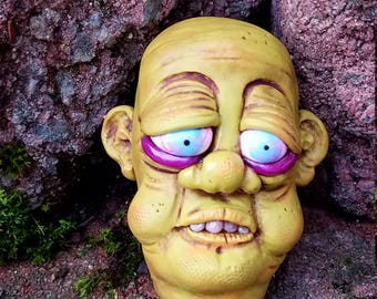 Severed Head Polymer Clay Sculpture