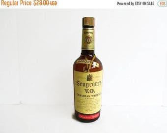 40% OFF NOW Vintage Whiskey Bottle, 1955 Seagram's V. O. Canadian Whiskey Bottle. Collectible Liquor Bottle, Man Cave Decor, Gift for Him