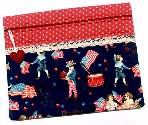 Yankee Doodle Dandy Patriotic Cross Stitch Embroidery Project Bag
