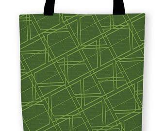 Geo Greenery Carryall Tote Bag