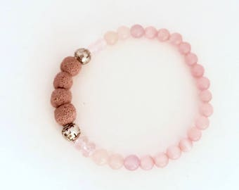 Diffuser Bracelet, Lava Rock Bracelet, Stone Bracelet, Essential Oil Bracelet