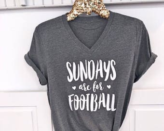 Sundays are for Football .  Boyfriend Style Tee. UNISEX Tee. XS- 3XL . Cute Shirt . Brunch Shirt . Southern Tee . Graphic Tee.