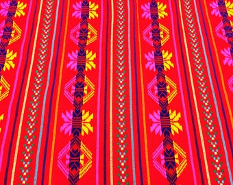 Special price for a limited time Mexican Kinich Red with pattern Wrap 5,5 yards