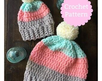 Mountain Slouch | Crochet Slouch | Slouch Hat (CROCHET PATTERN)