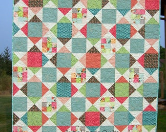 Ready to Ship, Twin Quilt, Pillow Sham, Patchwork Quilt, Handmade, Scrappy Quilt, Quilts For Sale, Bed Quilt, Blanket, Busy Hands Quilts
