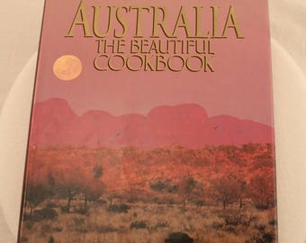 Australia The Beautiful Cookbook by Elise Pascoe and Cherry Ripe Hard Cover with Dust Jacket FREE US Shipping