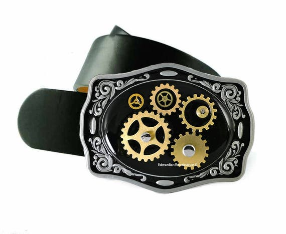 Belt Buckle Steampunk Gear Cog And Sprockets Neo Victorian