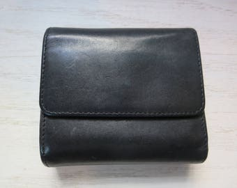 Vintage Coach Leather Wallet Black and Brown Leather Coach Tri Fold Wallet
