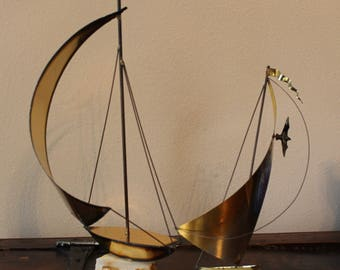 Demott Sailboat, Sailboat, Vintage Nautical Decor, with FREE Lionel Barrymore Pictures