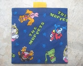 The Muppets  Reusable Sandwich Bag, Reusable Snack Bag with easy open tabs