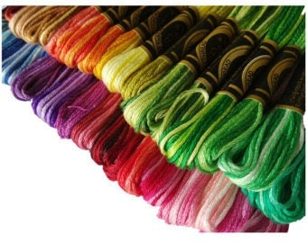 DMC Variegated Thread, Embroidery Floss, Variations Floss, Cross Stitch Thread (choose your color) ART 117
