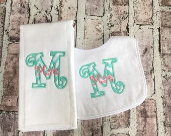 Personalized Baby Bib, Baby Girl Gift, Baby Shower Gift, Baby Girl