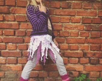 Pippi Langstrumpf *stripy roses* pixie skirt for little fairys kids