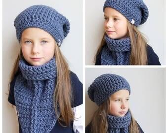 Crochet Pattern / Crochet Hat Pattern / Crochet Scarf Pattern / Crochet pdf Pattern / Instant Download