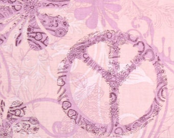 Peace Sign, AE Nathan Fabric, Cashmere Mist by AE Nathan & Co, 5370-55 Peace in Lavender