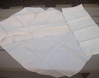 vintage monogrammed napkins LOT