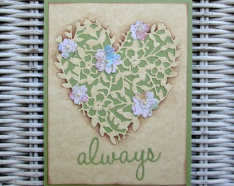 Mother's Day Card, Anniversary Card, Valentine Card, Always Greeting Card, Blank Card, Heart Card, Love Card