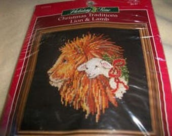 Christmas Traditions Lion & Lamb Cross Stitch Kit