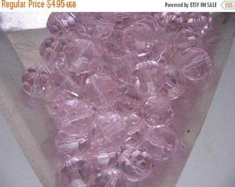 CLEARANCE Pink Faceted Czech Crystals 8mm Round QTY - 28 ONLY Lot