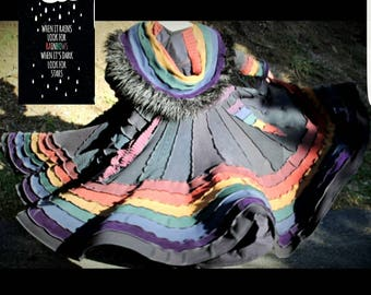 Custom Order! Gothic Rainbow Spiral Gipsy Coat