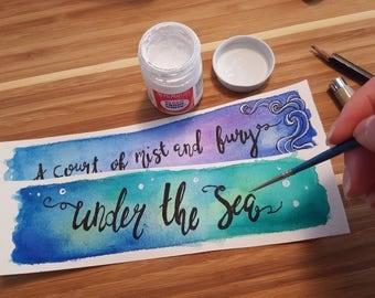 Outer Senshi Minimalist Watercolor Bookmark
