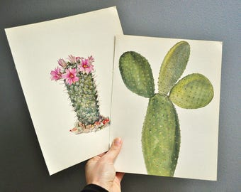 Vintage Cactus Book Plate - Ready to Frame