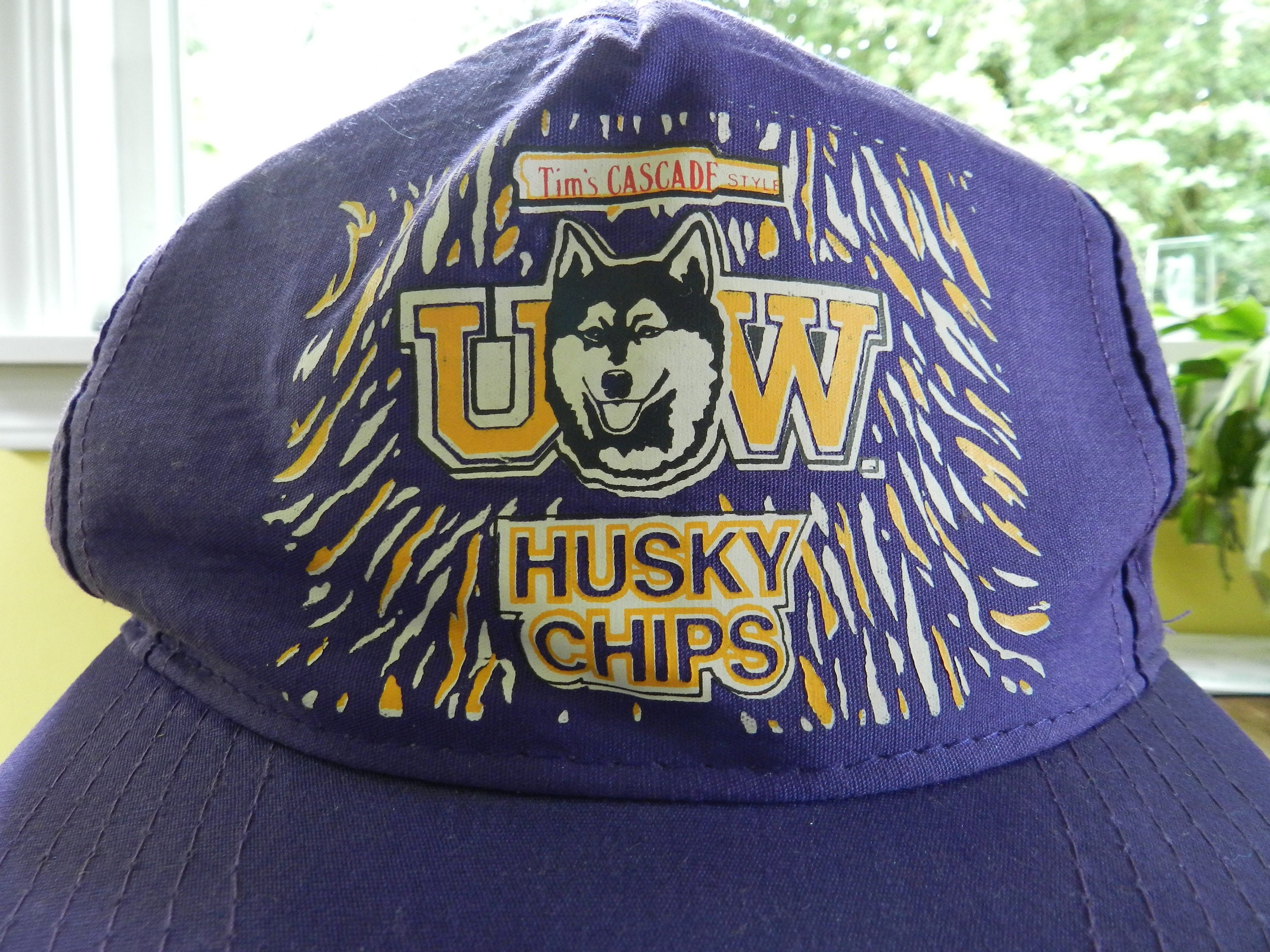 vintage UW Huskies Hat Tim s Cascade Husky Chips 90s football University of  Washington Don James Pac c2e887156