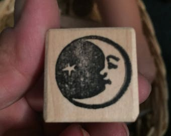 Creacent Moon and Star Stamp