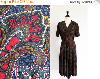 1/2 Off SALE Vintage Pendleton, Womens Skirt and Shirt, 80s Separates, Made in the U.S.A., Paisley Print