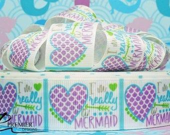 "1"" Mermaid Grosgrain Ribbon"